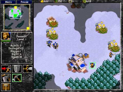 Warcraft 2: Tides of Darkness - Human Campaign Gameplay - Mission 1