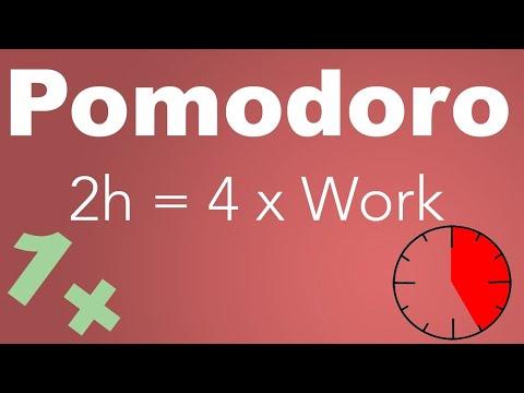 Pomodoro Technique 4 x 25 min - Study Timer 2 h