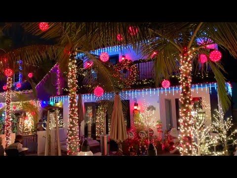 Naples Island Christmas Lights 2020, Long Beach - California