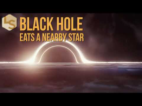 Watch a Black Hole Eat a Nearby Star