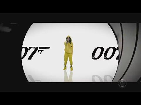 Billie Eilish Colbert James Bond spoof theme song