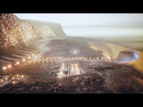 Nüwa, the cliff city on Mars