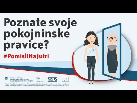 Moje delo.Moja pokojnina - Poznate svoje pokojninske pravice? #PomisliNaJutri - Animirani spot 1