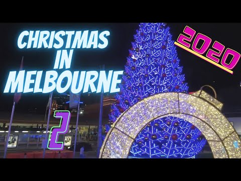 Christmas lights at Federation Square 2020 | Christmas in #MELBOURNECITY