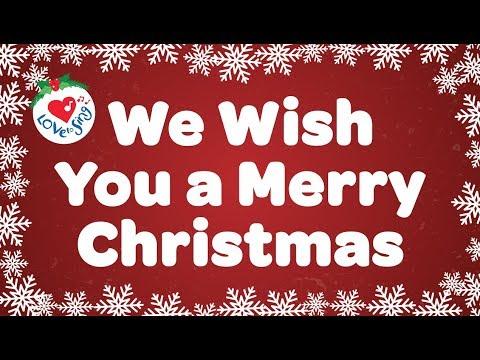 We Wish You a Merry Christmas with Lyrics | Christmas Carol & Song