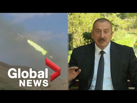 Azerbaijan's president says Armenia leaving disputed region is only way for peace amid conflict