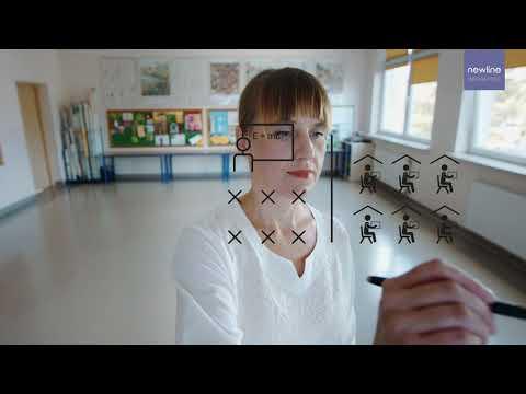 Newline interaktivni zasloni - Hibridno izobraževanje in izobraževanje na daljavo