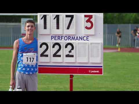 "Sandro Tomassini (SLO) 16 yo 222 cm High Jump 7' 3¼"" Slovenian record U18, U20 Novo mesto 2020"