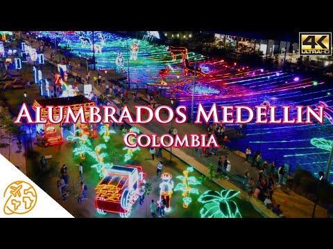 Alumbrados Medellin 2020 Del Rio EPM 4k Drone Navideños Christmas Lights Tour Colombia