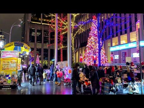 New York City Christmas Walk ✨ 6th Avenue Christmas Lights in Midtown Manhattan (December 20, 2020)