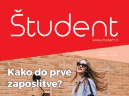 Naslovnica revije Študent 4/XXII, april 2019
