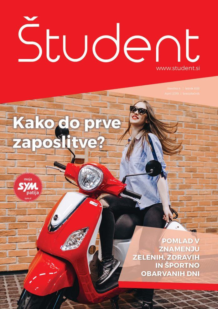 Naslovnica revije Študent 4/XXII, april 2019