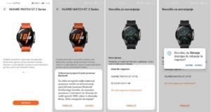 Sinhronizacija Huawei Watch GT 2 in telefona