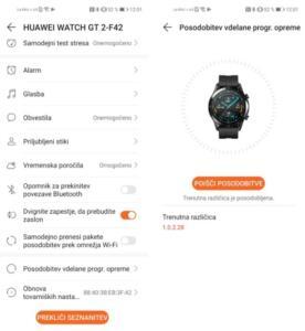 Posodobitev Huawei Watch GT 2