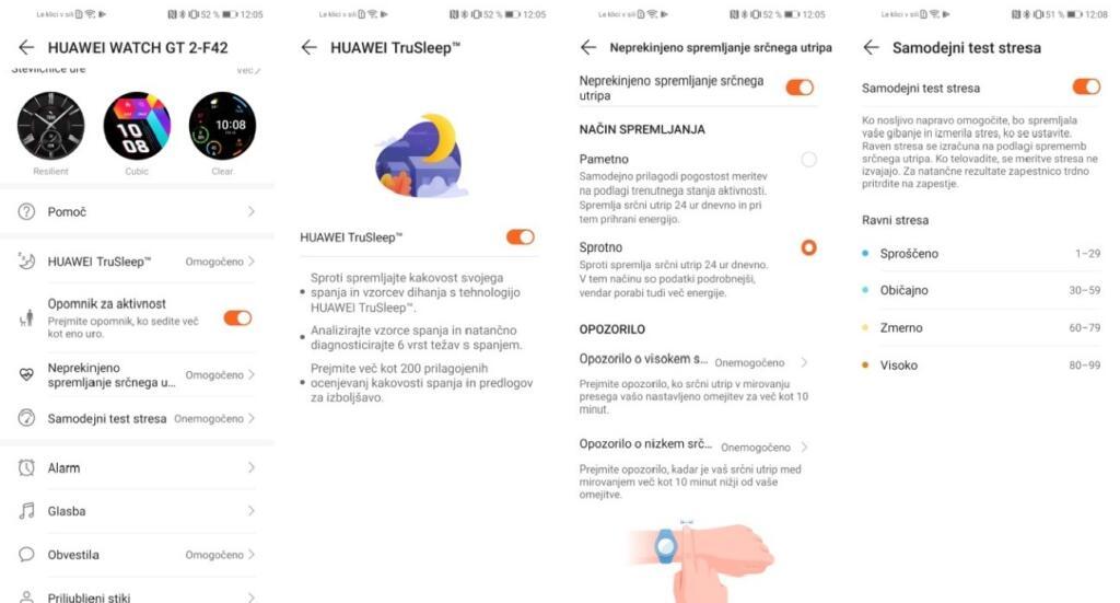 Spremljanje dejavnosti zdravja na Huawei Watch GT 2