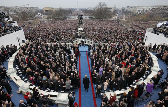 Donald Trump ob izvolitvi v Washington D.C.