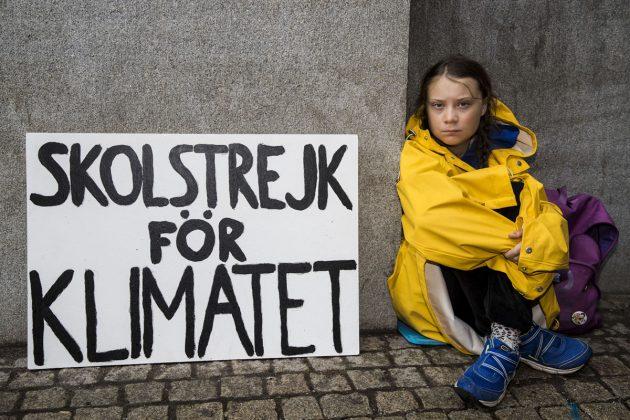 Greta z začetki podnebnega štrajka