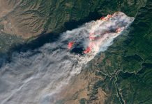 Satelitska slika požara