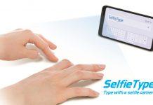 Selfie Type nevidna tipkovnica