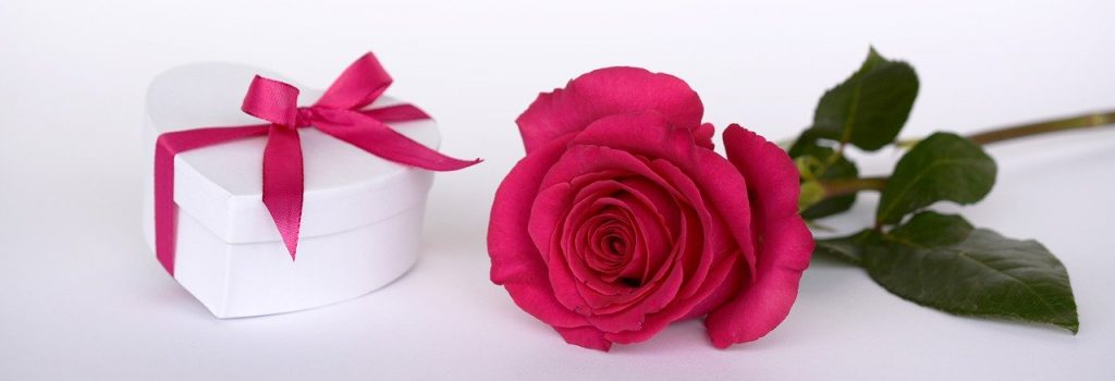 roža in darilo