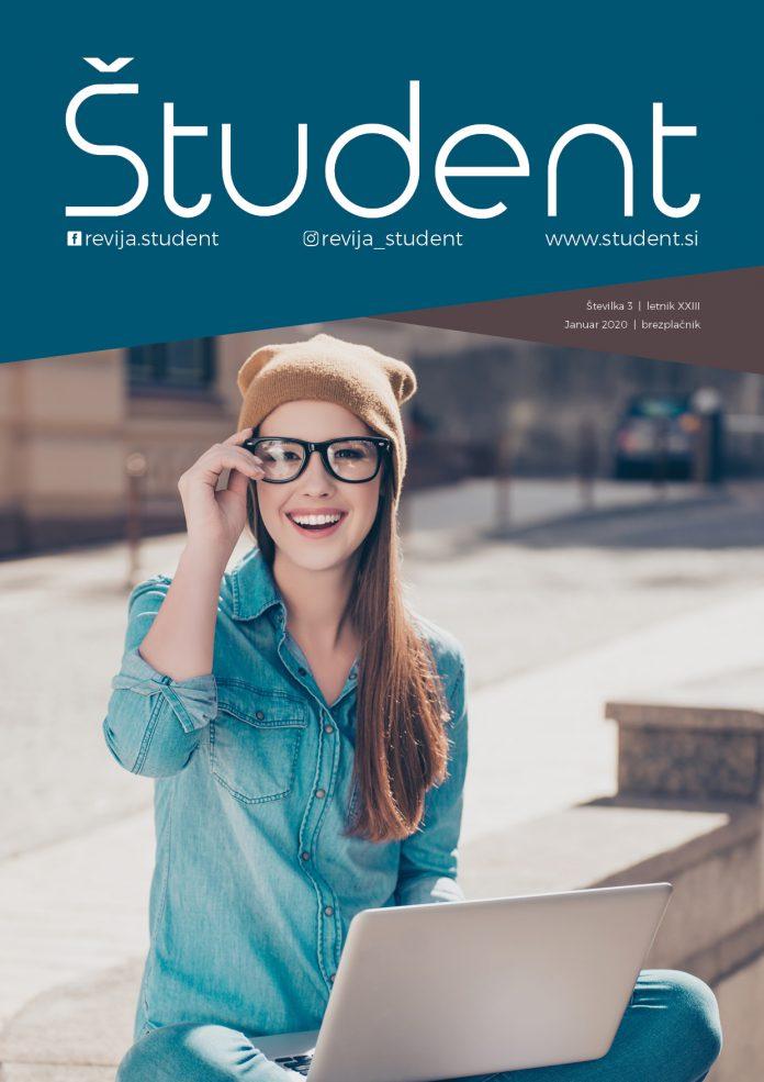 Naslovnica revije Študent, januar 2020