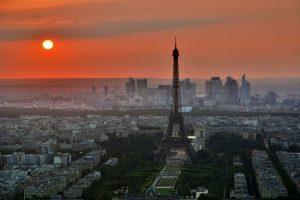 pariz in sončni zahod