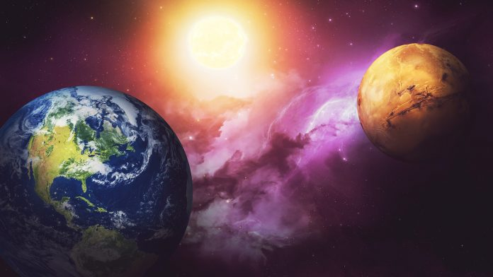 Zemlja, Mars, vesolje